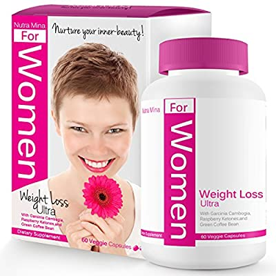 Weight Loss Ultra For WOMEN, with Green Coffee Bean Extract, Raspberry Ketones, Garcinia Cambogia and Green Tea Extract, Natural Appetite Suppressant, Boosts Thermogenesis & Metabolism, Made In USA