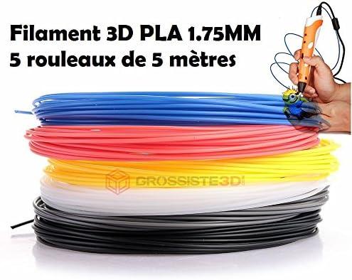 Surtido 5 x 5 métres/pcs hilos filamento pla 1.75 mm para ...