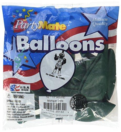 Pioneer Balloon Company 83180 11  Michigan State Latex 10 Count Balloons  Emerald Green