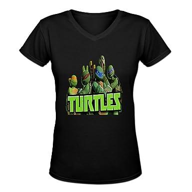 jamefoxfit Womens diseño Tortugas Ninja mutantes verde ...