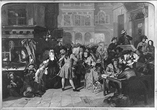 The South Sea BubbleNa Scene In Change Alley London In 1720 Oil On Canvas 1847 By Edward Matthew Ward (1816-1879) Poster Print by (24 x 36)
