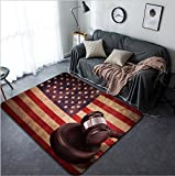 Vanfan Design Home Decorative 295927067 Hammer and gavel against usa flag in grunge effect Modern Non-Slip Doormats Carpet for Living Dining Room Bedroom Hallway Office Easy Clean Footcloth