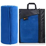 SUNLAND Microfiber Travel Towel Fast Drying Ultra Compact Sports Sweat Outdoor Towel with Carry Bag Set(Dark Blue, 32inch X 60inch)