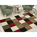 Sweet Home Stores Modern Boxes Design Area Rug 7'10 X 9'10'', Multi-Color