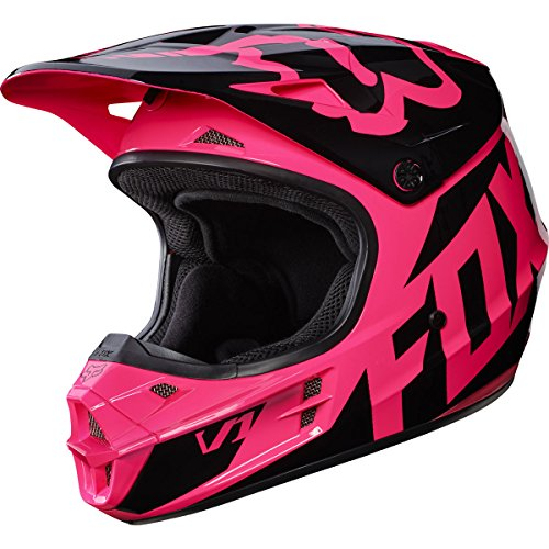 Fox Racing 2017 Race Adult V1 Motocross Motorcycle Helmet - Pink / Medium (Mx Womens Fox Helmet)