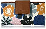 Image of Fossil Emma Rfid Tab Wallet-navy Floral Wallet