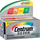Centrum Silver Multivitamin Supplement For Adults Over 50, 80 Tablets