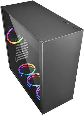 Sharkoon Pure Steel RGB - Caja de Ordenador, PC Gaming, Semitorre ATX, Negro: Amazon.es: Informática
