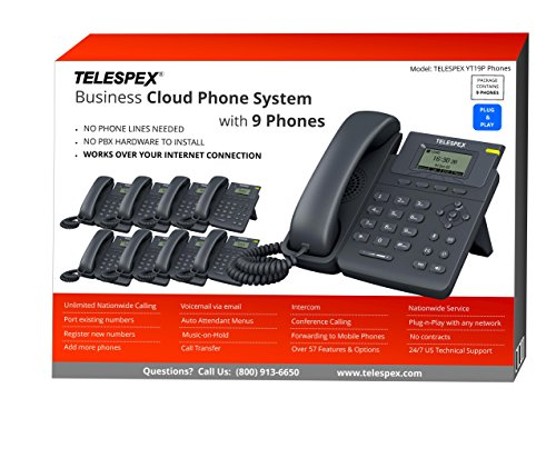 6650 Phone (LIMITED TIME OFFER - BUY 3 VOIP PHONES, GET 6 FREE - TELESPEX Cloud Business Phone System with 9 Phones - (800) 913-6650)