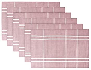 SiCoHome Placemats,Set of 6,Pink,Placemats for Dining Table for Home Kitchen and Office Decoration