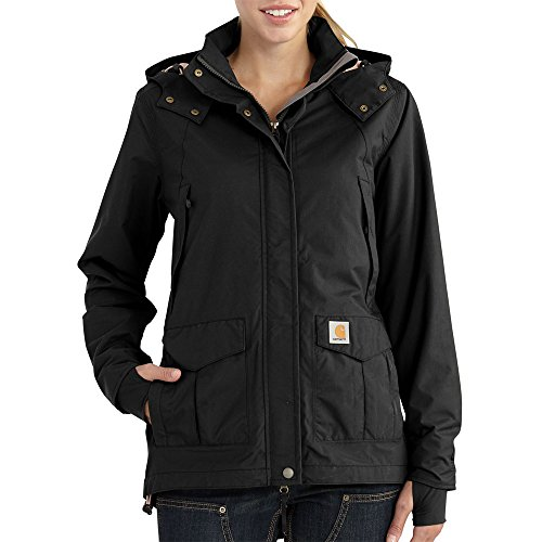 Carhartt Women's Shoreline Jacket, Black, - Front Storm Jacket Womens
