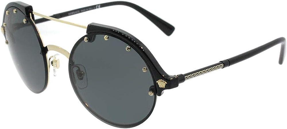 Versace Women's Studded Brow Bar Sunglasses