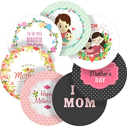 Happy Mother's Day Reward Sticker Labels, 70 Stickers @ 1