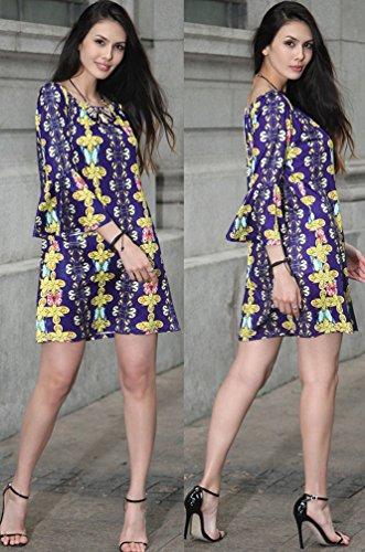 Kleid lange armel blumen