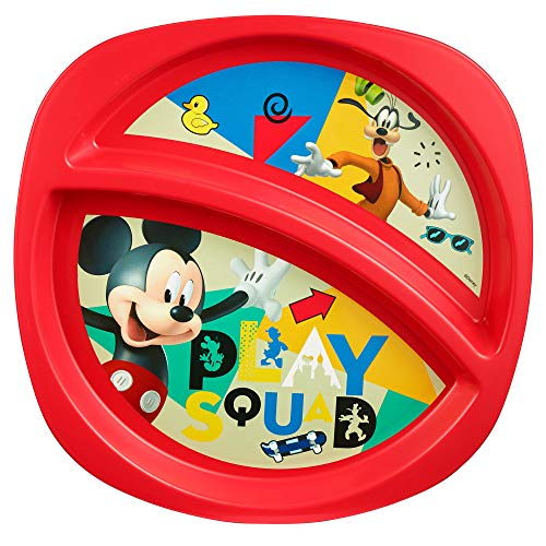 Disney Baby Mickey Mouse Sectioned Plate]()