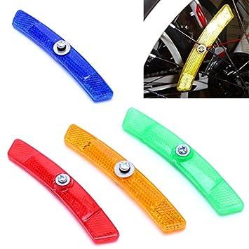 Kofun Bicycle Light Spoke Bike MTB Road Warning Reflective Reflector Wheel Rim Safety 1 Pack Yellow