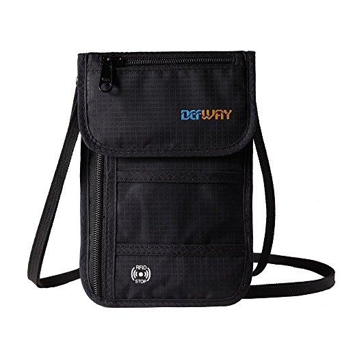 dew-travel-passport-holder-stash-hidden-neck-pouch-rfid-blocking-travel-anti-theft-hidden-wallet-for