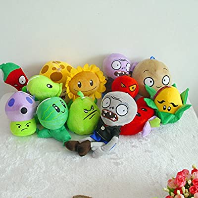 Plants Vs Zombies 2 PVZ Figures Plush Baby Staff Toy Stuffed Soft Doll (Purple Zombie): Baby