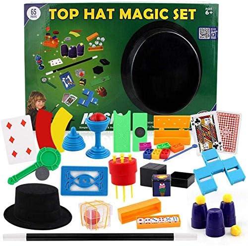 Filles et Adultes gar/çons AKAMAS Kit de Magie de pour Enfants avec 16 Tours de Magie Accessoires de Performance Accessoires faciles /à Jouer pour Les d/ébutants Enfants de 6 Ans et Plus