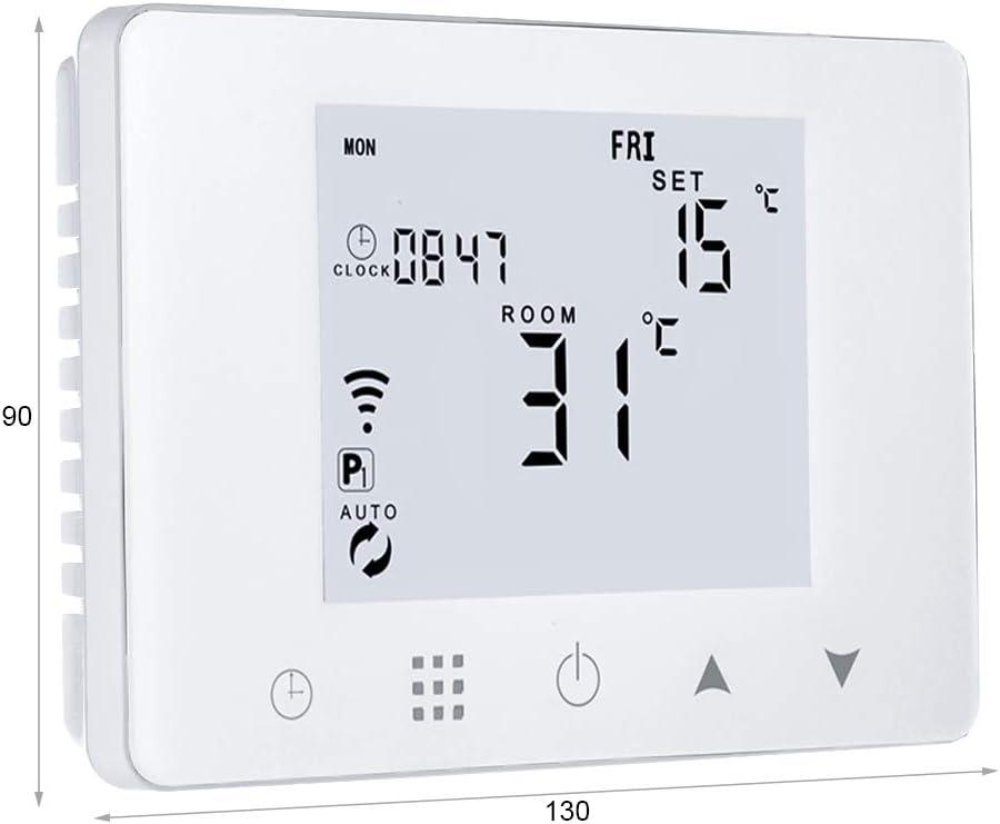 LEDLUX LL0253 - Termostato digital programable para caldera de gas de pared caja 503 calefacción radiador de agua WiFi compatible con Amazon Alexa Echo 3 A 220 V