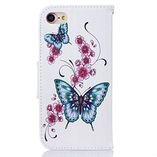 iPhone 7 / iPhone 8 Hülle Leder mit Muster, Lomogo Schutzhülle Brieftasche mit Kartenfach Klappbar Magnetverschluss Stoßfest Kratzfest Handyhülle Case für Apple iPhone7 / iPhone8 (4,7 Zoll) - BIFE2359 #9