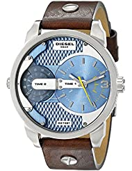Diesel Mens DZ7321 Mini Daddy Watch With Brown Leather Band