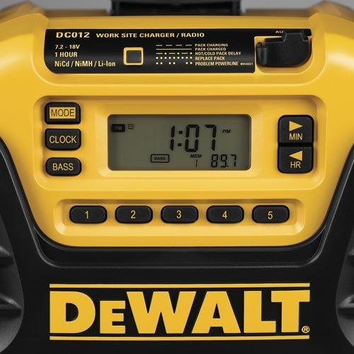 DEWALT DC012 7.2-Volt-18-Volt Heavy-Duty Worksite Radio Charger by DEWALT (Image #6)
