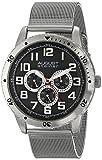 August Steiner Men's AS8115SSB Stainless Steel Multifunction Watch With Mesh Bracelet