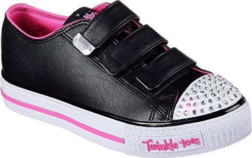 Skechers Girls Twinkle Toes Shuffles City Slicker Sneaker,Black/Hot Pink,US (Twinkle Toes Clothes)