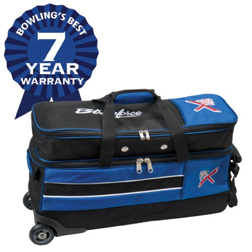 KR Strikeforce Royal Flush Slim Triple Roller Bowling Bag Holds Shoes ()