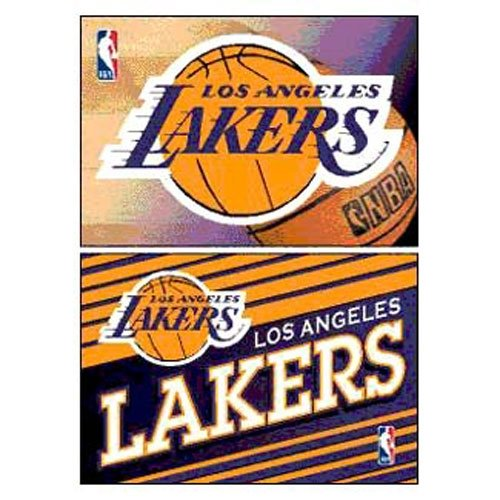 WinCraft NBA Los Angeles Lakers WCR06297011 Rectangle Magnet (2 Pack), 2
