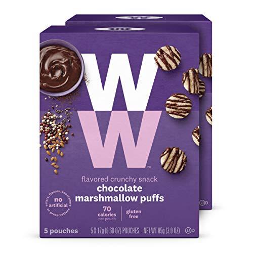 WW Chocolate Marshmallow Puffs - Gluten-free & Kosher, 2 SmartPoints - 2 Boxes (10 Count Total) - Weight Watchers - Gluten Free Foods Frozen