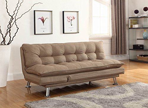 light-brown-linen-upholstered-futon-sofa-lounger-sofa-bed-by-coaster-by-home-life-s208brown