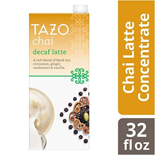 Tazo Decaf Chai Decaffeinated Spiced Black Tea Latte Concentrate, 32 oz