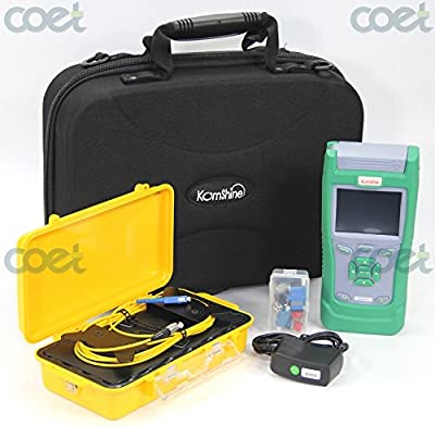 KOMSHINE KQL-40 Optical Fiber Test Kit plus QX40 1310/1550nm 32/30dB OTDR Fiber Tester and 500M SM OTDR launch Cable Box