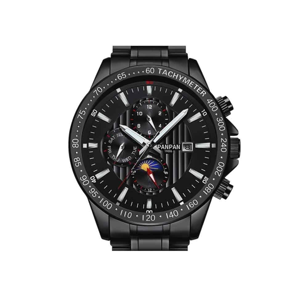 XIAOXIAN ストップウォッチ、発光中空防水自動機械式時計、大型ダイヤルスポーツ時計をくり抜いた時計