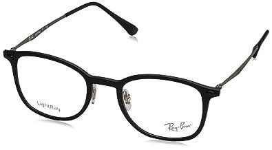 e1eb7c74ee Amazon.com  Ray-Ban Unisex RX7051 Eyeglasses Opal Matte Yellow 49mm ...