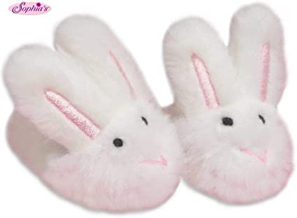 """Bunny Slippers Fits 18/"""" American Girl Dolls"""