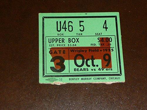 1955 CHICAGO BEARS SAN FRANCISCO 49ERS FOOTBALL TICKET STUB EX-MINT