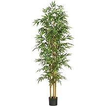 Nearly Natural 5254 Bamboo Silk Tree, 75-Inch, Green