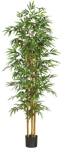 (Nearly Natural 5254 Bamboo Silk Tree, 75-Inch, Green)