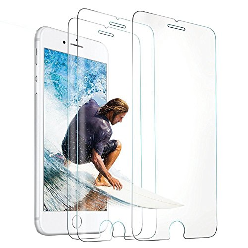 iPhone 8 Screen Protector, iPhone 7 Screen Protector, 3-Pack Novo Icon Tempered Glass Screen Protector 3D Touch Compatible 0.26mm Screen Protection for iPhone 8 iPhone 7