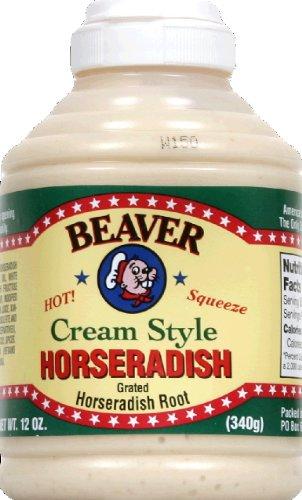 BEAVER Brand Cream Style Horseradish 12 OZ Squeezable Bottle (Pack of 2) - Horseradish Cream Sauce