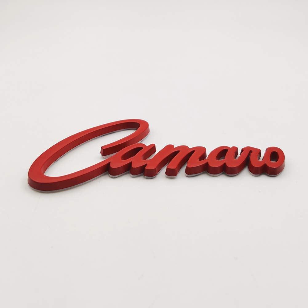 Silver AxleZx Chrome Metal Camaro Logo Car Emblem Letters Badge Racing Sport Sticker Turbo Decal for Camaro