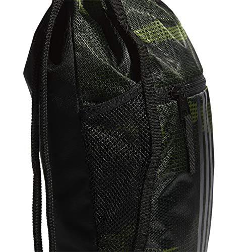 5125igRTrkL - adidas Unisex Alliance II Sackpack, Tech Olive Off The Grid Camo/Black, ONE SIZE