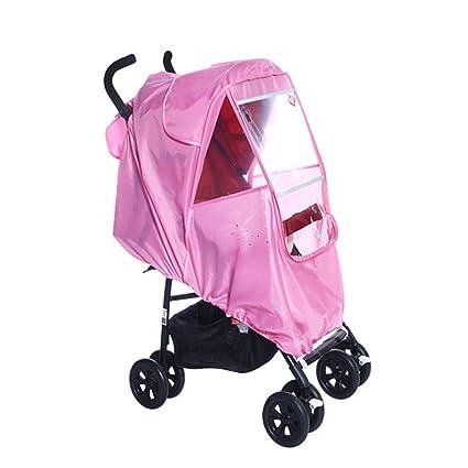 Funda impermeable para cochecito de bebé, bolsa de almacenamiento de gran espacio universal de PVC