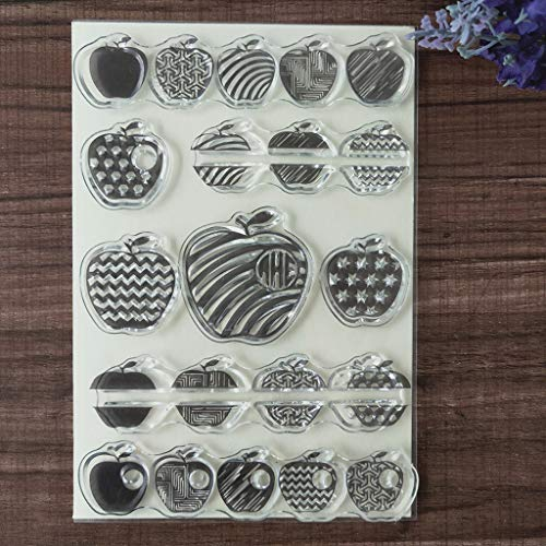 Paper Scrapbooking Apple - Huanban072 Fruit Apple Silicone Clear Seal Stamp DIY Scrapbooking Embossing Photo Album Decorative Paper Card Craft Art Handmade Gift