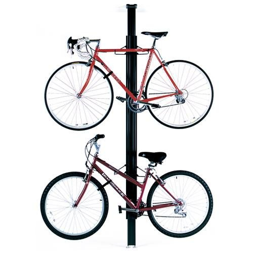 GEAR UP FLOOR TO CEILING ALUMINUM BIKE RACK BLACK by Gear Up