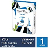 Hammermill Copy Plus 20lb Paper, 8.5 x 11, 1 Ream, 500 Total Sheets, Made in USA, Sustainably Sourced From American Family Tree Farms, 92 Bright, Acid Free, Economical Printer Paper, 105007R