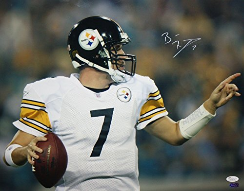 Ben Roethlisberger Autographed Steelers 16x20 Horizontal Up Close Photo- JSA W Auth